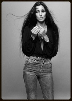Cher wearing Levi's jeans the way they should be worn. Classic 1970's style --- still chic!!! http://afashionlines.tumblr.com/