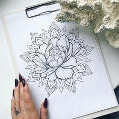Mandala tattoo, tattoos y flower tattoos. Mehndi, Henna, Tattoo Drawings, Body Art Tattoos, Sleeve Tattoos, Mandala Tattoo Design, Tattoo Designs, Mandala Flower Tattoos, Tattoo Ideas