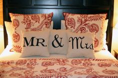 mr and mrs pillows.