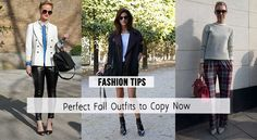 PERFECT FALL OUTFITS TO COPY RIGHT NOW