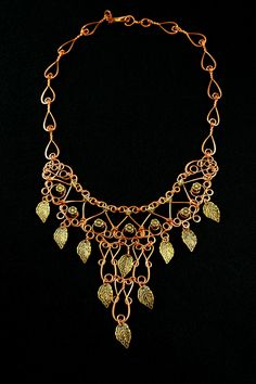 Copper Egyptian Style Necklace With Brass by MysticMetalDesigns, $155.00