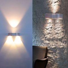 Auralum® 3W LED Wandleuchte Wandbeleuchtung Designerlampen Treppenleuchten 300LM Aluminum (Warmweiß) für Innen (Nicht wasserdicht): Amazon.de: Beleuchtung