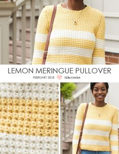 Striped crochet sweater pattern - Before After DIY Pull Crochet, Bag Crochet, Mode Crochet, Crochet Diy, Crochet Quilt, Crochet Woman, Crochet Cardigan, Crochet Clothes, Crochet Sweaters