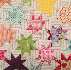 A great way to use text fabric or create text fabric to add extra sentiment to a quilt: use it as the light fabric in any design