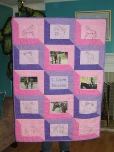 Perfect quilt. My favorite animal and my favorite color (purple) on one quilt.