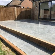 View some of our very own polished concrete floors from our portfolio and get inspired. Find a polished concrete floor perfect for you. Poured Concrete Patio, Concrete Backyard, Concrete Patio Designs, Patio Deck Designs, Concrete Porch, Cement Patio, Patio Tiles, Concrete Steps, Modern Backyard