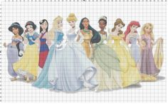 Oh Noooo..... look what I stumbled on to!! Disney Princess Cross Stitch Pattern PDF (Pattern Only). $5.00, via Etsy.