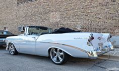 1956 Chevrolet Bel Air convertible...Re-pin...Brought to you by #CarInsurance at #HouseofInsurance in Eugene, Oregon