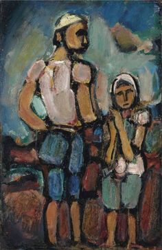 'Paysans' (1937) by Georges Rouault