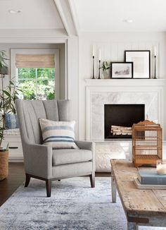 Get This Look: Fixer Upper Mountain House Living Room #livingroomideas  #joannagaines #fixerupper