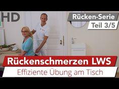 Rückenschmerzen im unteren Rücken // Übung gegen Rückenbeschwerden, Lendenwirbelsäule - YouTube