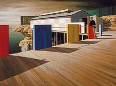 Coogee Baths, Winter, 1961, by Jeffrey Smart