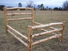 King Size Log Rail Bed - Rustic Handcrafted Rustic Red Cedar High Quality #QualityMidwestFurniture #Country