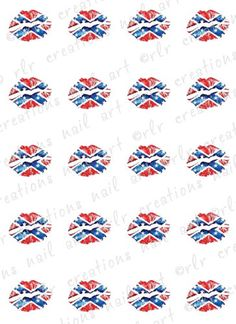 $2.25 Stocking stuffer 20 REBEL FLAG Lipstick KISS Water Slide Nail Art Decals Country Nail Art Designs on Etsy