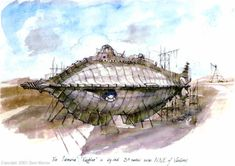 Images of Jules Verne's Nautilus from 20000 Leagues under the Sea as envisioned by Dave Warren. Nautilus Submarine, Leagues Under The Sea, Adventure Movies, Ship Art, Weird World, Concept Art, Steampunk, Sci Fi, Sketches