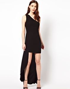 Enlarge Aryn K One Shoulder Dress With Hi Lo Hem- hee hee is it wrong i want to wear this with combat boots?