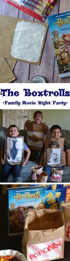 The Boxtrolls Family Movie Night Party - Make your own 'boxes' for the movie! #BoxtrollsFamilyNite #PMedia #ad