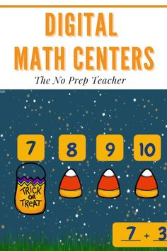 Elementary math teachers, looking to add a little halloween flavor to your math instruction? These digital math centers will help your kids practice addition skills in a fun, simple way! Absolutely no prep needed from you. Your students will practice addition, counting on, using a number line, and doubles facts. Aligned to first grade common core standards. Digital manipulatives included so students can be hands on even if they're working on a tablet or computer!
