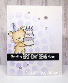 card critters bear cake MFT Beary special Birthday Die-namics #mftstamps Kunis Bastelblog