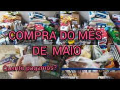 COMPRAS DO MÊS DE MAIO | QUANTO PAGUEI - YouTube Breakfast, Youtube, Food, May, Cooking, Shopping, Morning Coffee, Meal, Essen