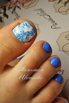 Cool summer pedicure nail art ideas 58 #nailart