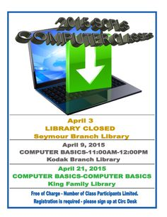 SCPLS April Computer Class Schedule
