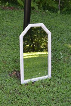 Vintage Shabby Chic Mirror, Retangular, White, Recycled, Upcycled on Etsy, $43.00