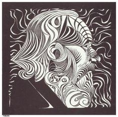 Portrait of a man by M.C. Escher 1920
