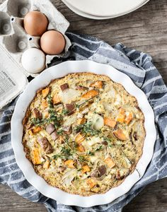 Winter-Frittata mit Quinnoa Crust