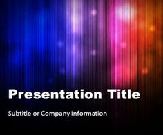 Northern Lights PPT template is another abstract PowerPoint Template with lights and vertical lines style