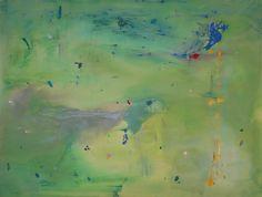 helen frankenthaler, 'a green thought in a green shade' 1981