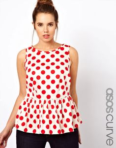 Shame the model is too small for it, but this spotty peplum top from ASOS Curve is adorable!