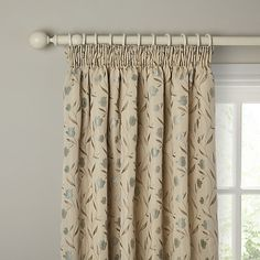 Buy John Lewis Tulips Lined Pencil Pleat Curtains Online at johnlewis.com