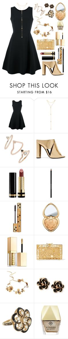 """""""Date Night #16"""" by xxmonnyxx on Polyvore featuring Emporio Armani, Fragments, Topshop, Tom Ford, Gucci, Lancôme, Yves Saint Laurent, Too Faced Cosmetics, Stila and Charlotte Olympia"""
