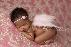 Light Pink Feather Angel Wings Newborn Baby Photo Prop | Beautiful Photo Props
