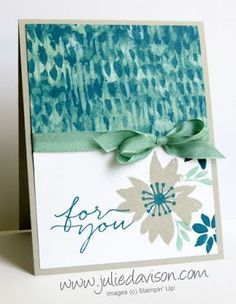 Blooms And Wishes Stampin Up, Reverse this one top to bottom Homemade Greeting Cards, Greeting Cards Handmade, Stampin Up Catalog, Beautiful Handmade Cards, Handmade Birthday Cards, Card Sketches, Paper Cards, Flower Cards, Stampin Up Cards
