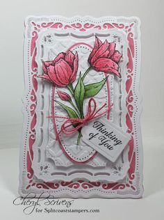CT0714 – Tulips for Chris by CherylQuilts - Cards and Paper Crafts at Splitcoaststampers