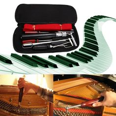31.36$  Watch here  - Professional 13 in 1 Piano Tuning Maintenance Tuning Tool Kit with Portable PU Leather Case Easy Operate