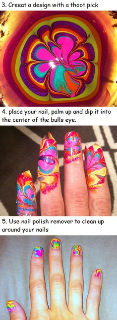 """How to """"TIE DYE"""" your nails tutorial   Beauty Tutorials"""