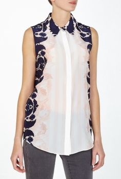 Umiko Print Sleeveless Shirt By Mother of Pearl #tops #shirt