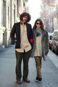 I aspire to be this... involved in a quirky relationship where, through our love and style, we combine the best elements of both Hasidic Judaism and animal-safari-late-70s-groupie-attire. #quirkylove #soobscure