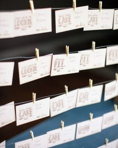 The Escort Cards - Vanessa And Joe's Foodie Wedding In Napa, California