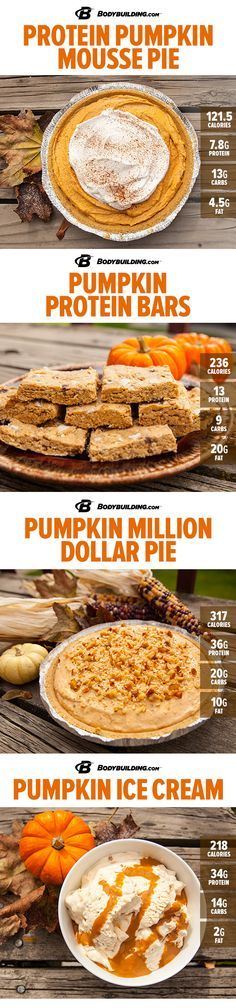Healthy Recipes: 8 Delicious Protein Pumpkin Recipes! Add the seasonal treat to your meal plan with these dessert recipes that are sure to take any meal to the nines!