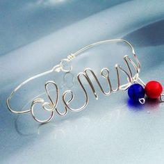 Wire Wrapped Ole Miss Bracelet