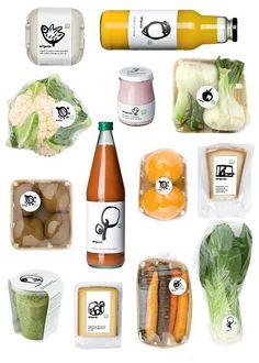 Great packaging for Globus Organics. #OrganicFoodIllustration