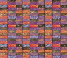 Polymer Clay Tiles- multi colored horizontal fabric by koalalady on Spoonflower - custom fabric