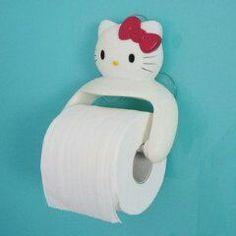 Hello kitty toilet paper holder