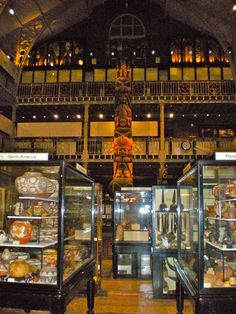pitt rivers museum  | The Pitt Rivers collection is housed in cabinets - little children are ...