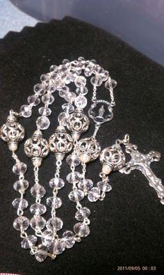 Crystal & Sterling heirloom rosary