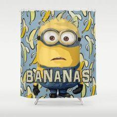 Bananas Minion Shower Curtain